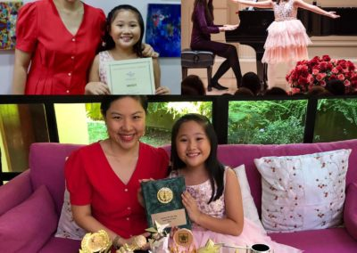 Cadence Sng shows off all her achievements with us attained in a year.