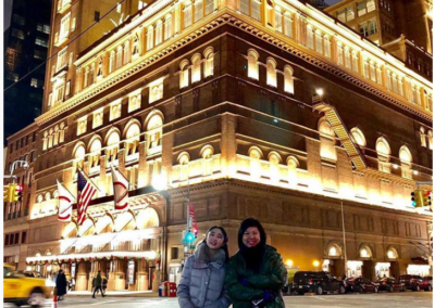 In front of Carnegie Hall