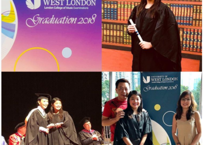 Shermaine S at the London College of Music ceremony in Kuala Lumpur